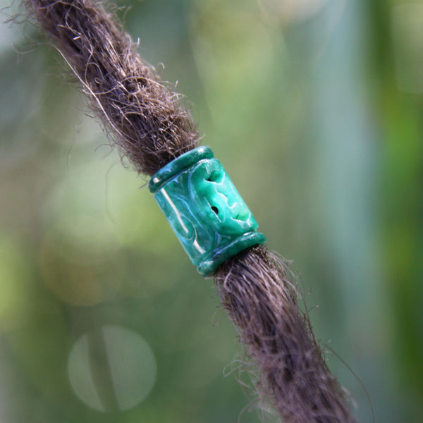 Sea Green Dreadlock Beads | Set Of 5