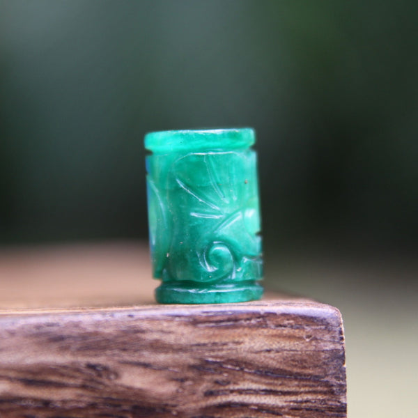 Carved Green Jade Tube