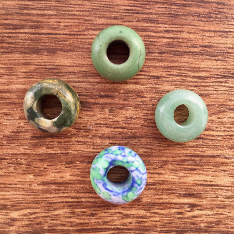 Green Beads | Set Of 4