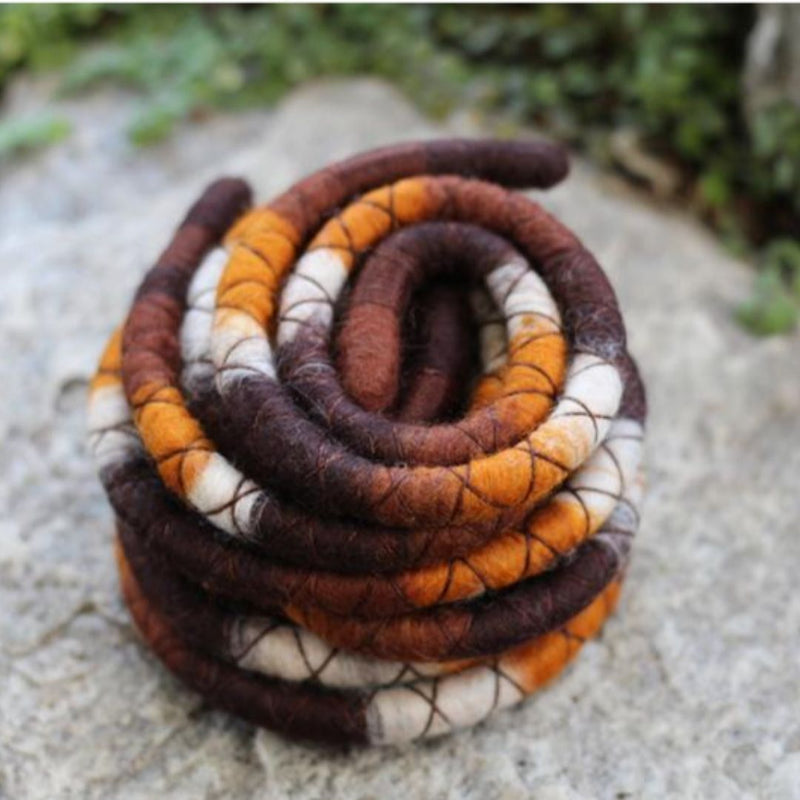 Earthy Wool Felt Spiralocks