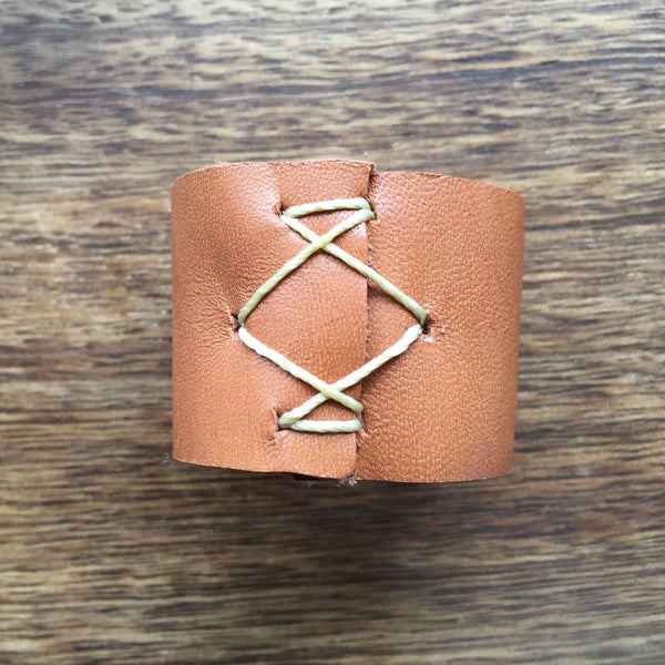 Handmade Stitched Leather Dread Tie