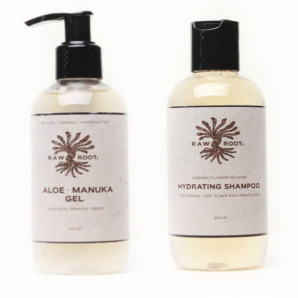 Raw Roots Aloe Manuka Gel + Hydrating Shampoo