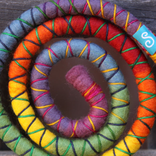 Rainbow Wool Felt Spiralocks