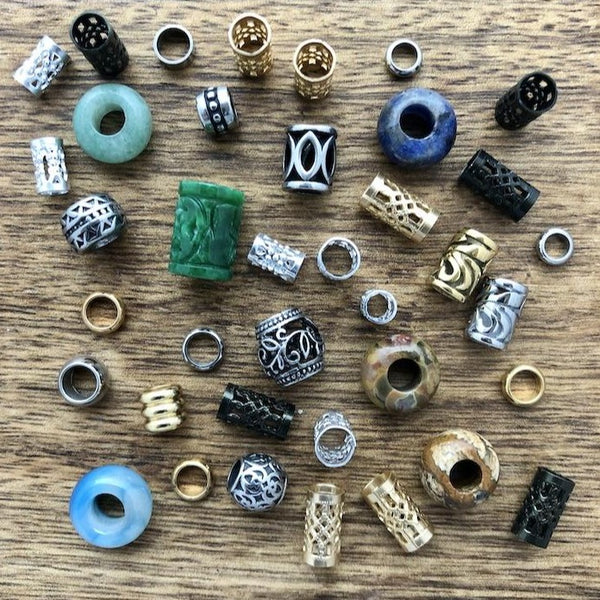 Small Dreadlock Beads | Set Of 40