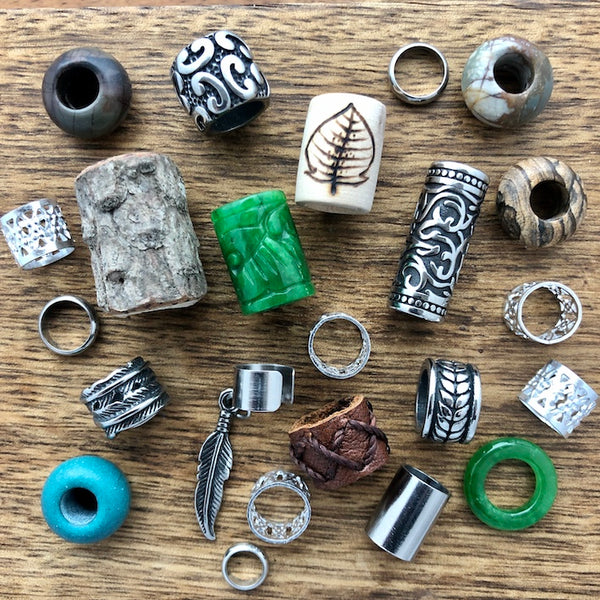 Dreadlock Beads | Set of 30 in Wooden Box