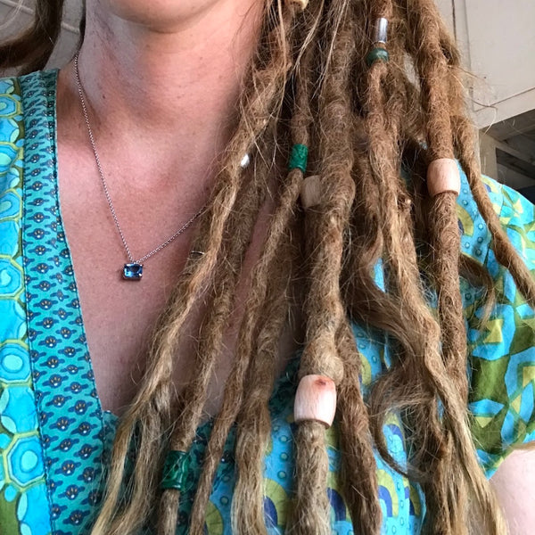 Large Wooden Dread Beads | Set of 10