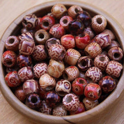 Small Wooden Beads | Set Of 15
