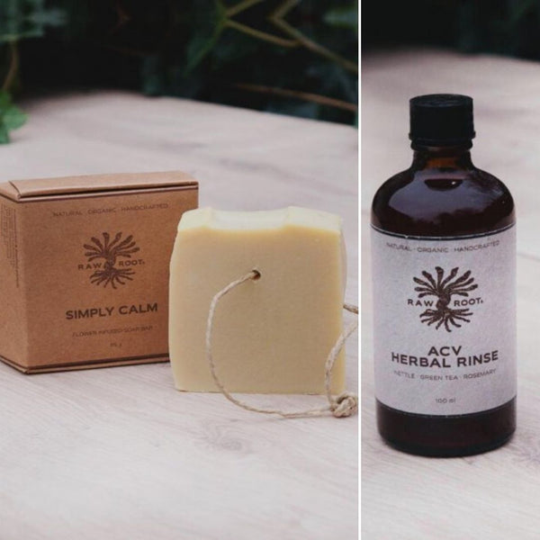 Raw Roots Shampoo Bar + ACV Herbal Rinse