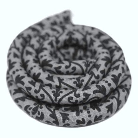 Grey Paisley Vegan Spiralocks