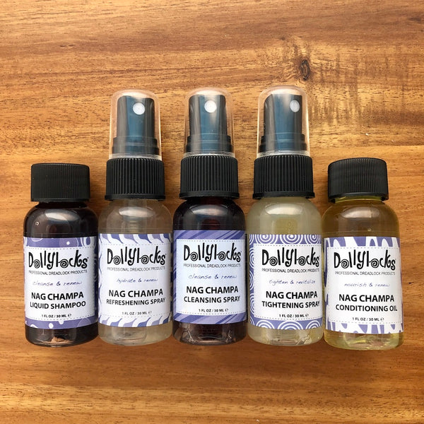 Dollylocks Travel Size Sampler Set | Nag Champa