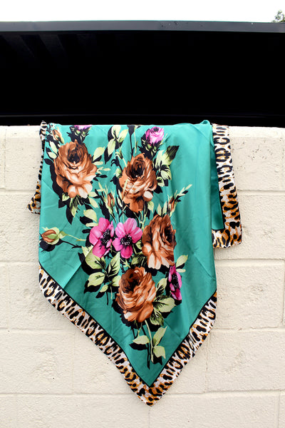 Fiesty Floral Wild Rags - Bar L Boutique
