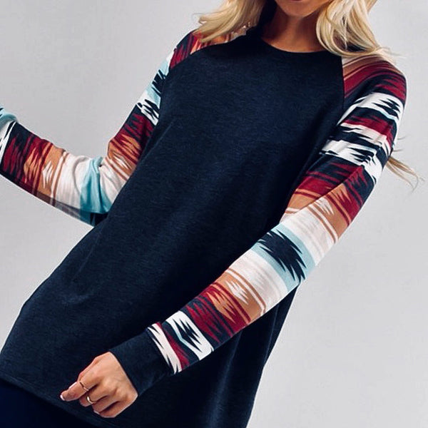 Aztec Raglan Top - Bar L Boutique