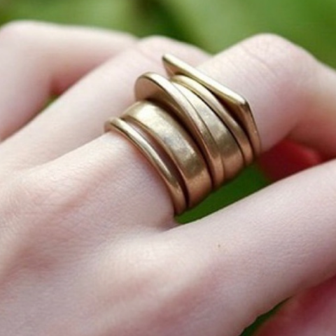 Geometric Stack Rings Set - Bar L Boutique