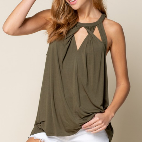 Twisted Detail Tank - Bar L Boutique