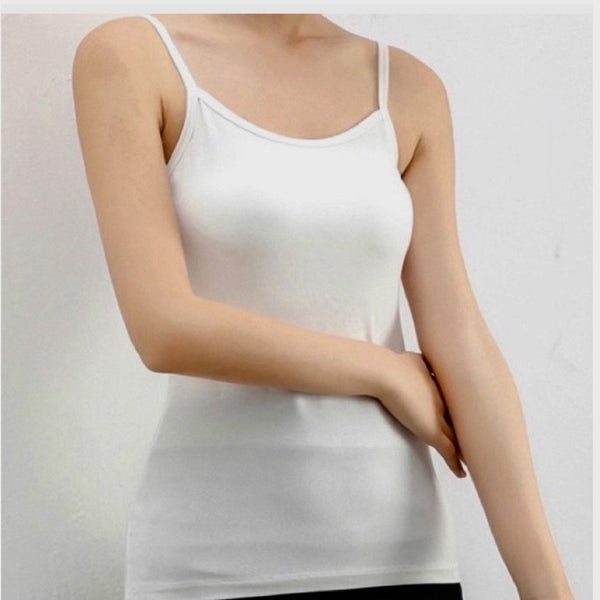 Cami Tank | White - Bar L Boutique