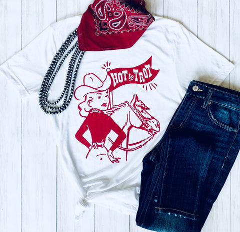 Hot to Trot Tee - Bar L Boutique