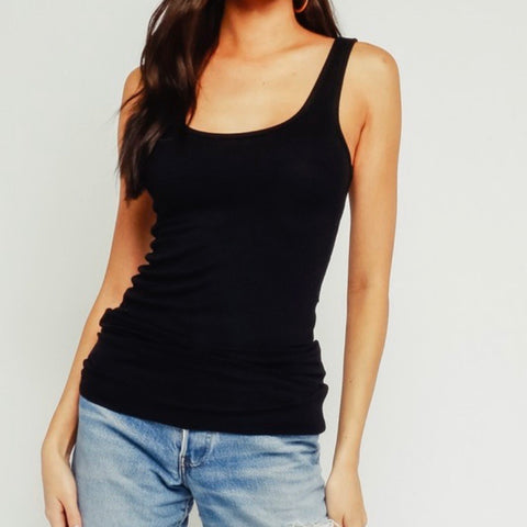 Ribbed Knit Tank | Black - Bar L Boutique