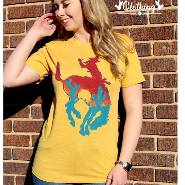 Bowie Bronc Tee - Bar L Boutique