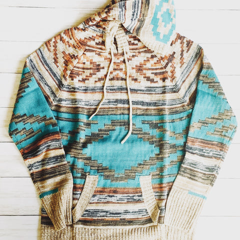 Aztec Sweater - Bar L Boutique