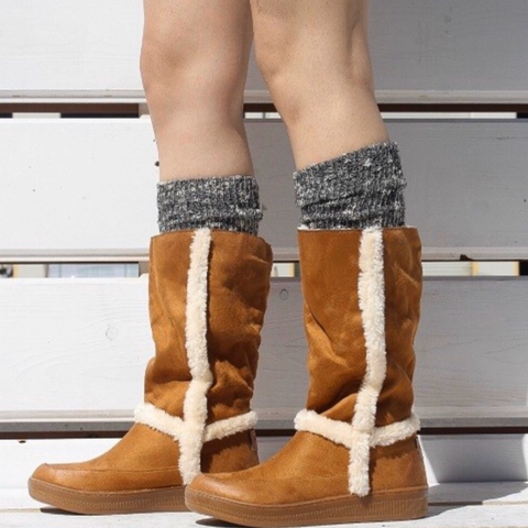 Sheepskin Suede Cold Weather Boot Boots suede winter bar l boutique western women's boutique