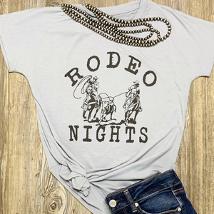 Rodeo Nights Tee - Bar L Boutique