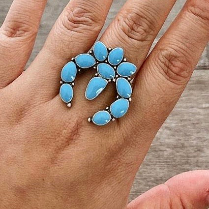 Squash Blossom Stretch Ring - Bar L Boutique