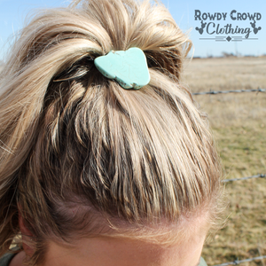 Turquoise Ponytail Holder - Bar L Boutique