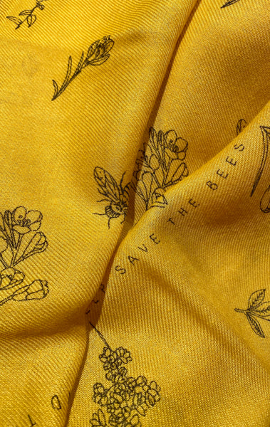'Help Save The Bees' Recycled Scarf