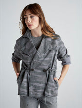 Load image into Gallery viewer, Women's Printed Cropped Trench Coat