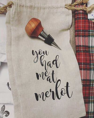 You Had Me at Merlot Wine Bag Sack