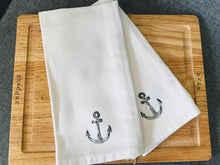 Load image into Gallery viewer, Hand Stamped White Napkin Sets (2)
