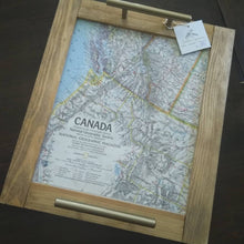 Load image into Gallery viewer, Vintage Map Tray Canada