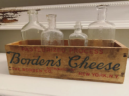 Vintage Borden's American Cheese Wood Box for Display