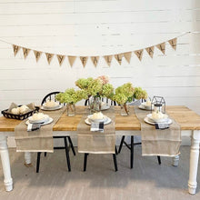 Load image into Gallery viewer, Anchor Flax Natural Table Runner