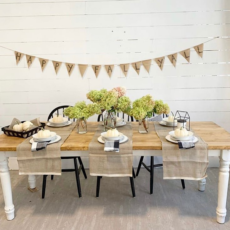 Anchor Flax Natural Table Runner