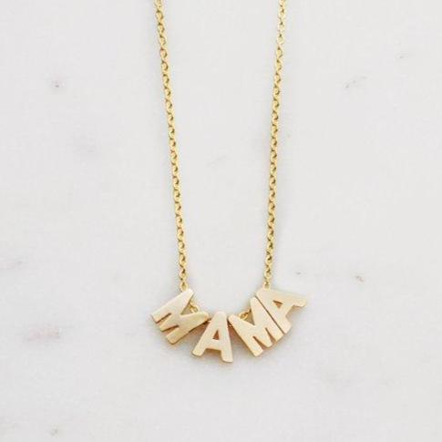 MAMA Necklace || Gold