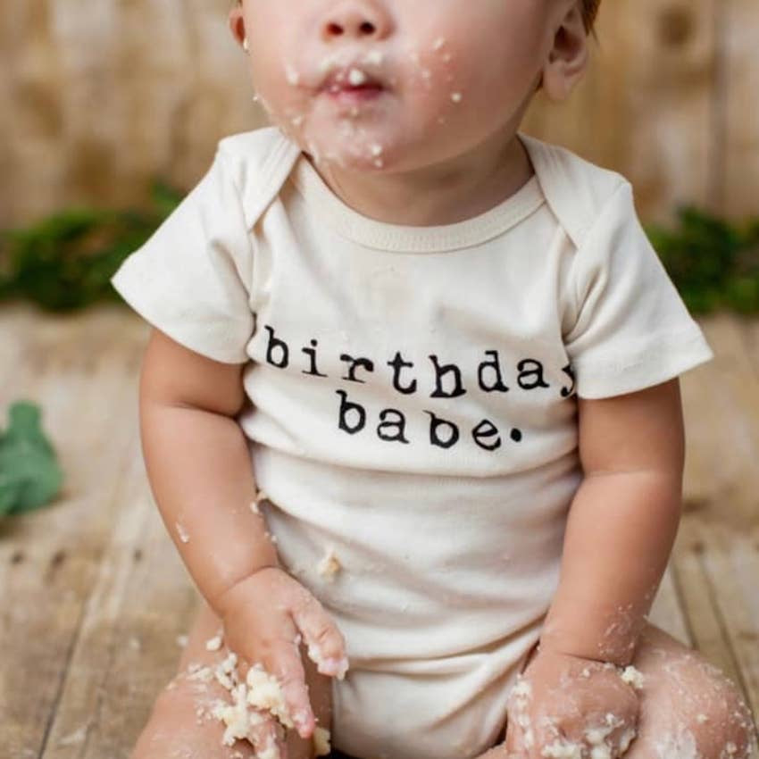 Birthday Babe Short Sleeve Onesie