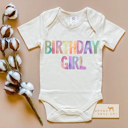 Birthday Girl Organic Onesie