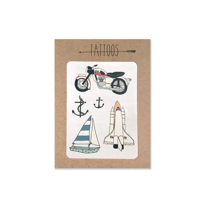Moto Temporary Tattoos