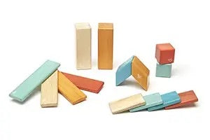 14 Piece Magnetic Wooden Block Set