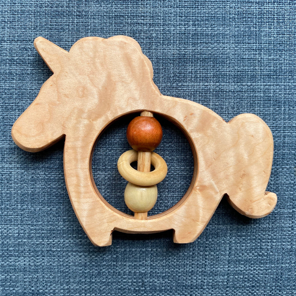 Unicorn Teether// Maple