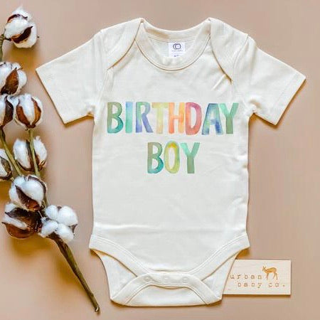 Birthday Boy Organic Onesie