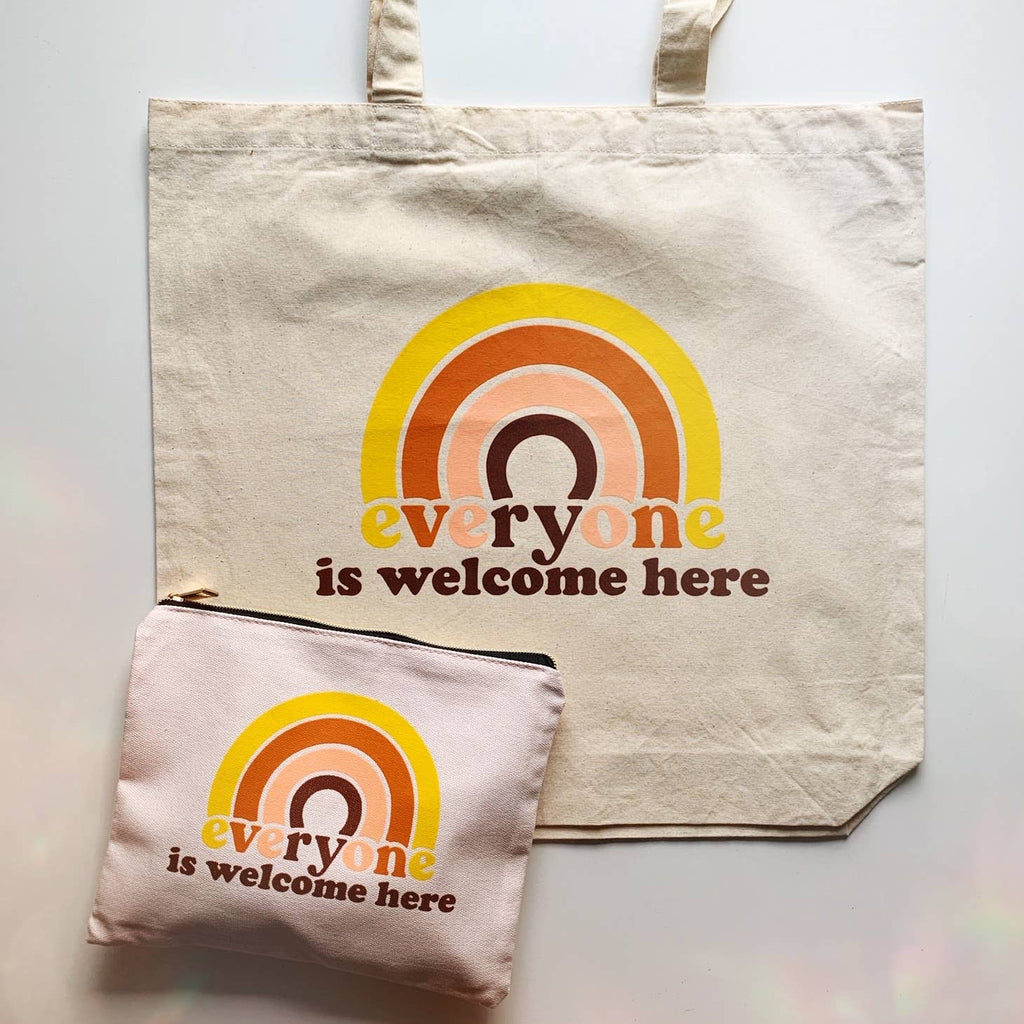 Everyone is Welcome Here Canvas Tote