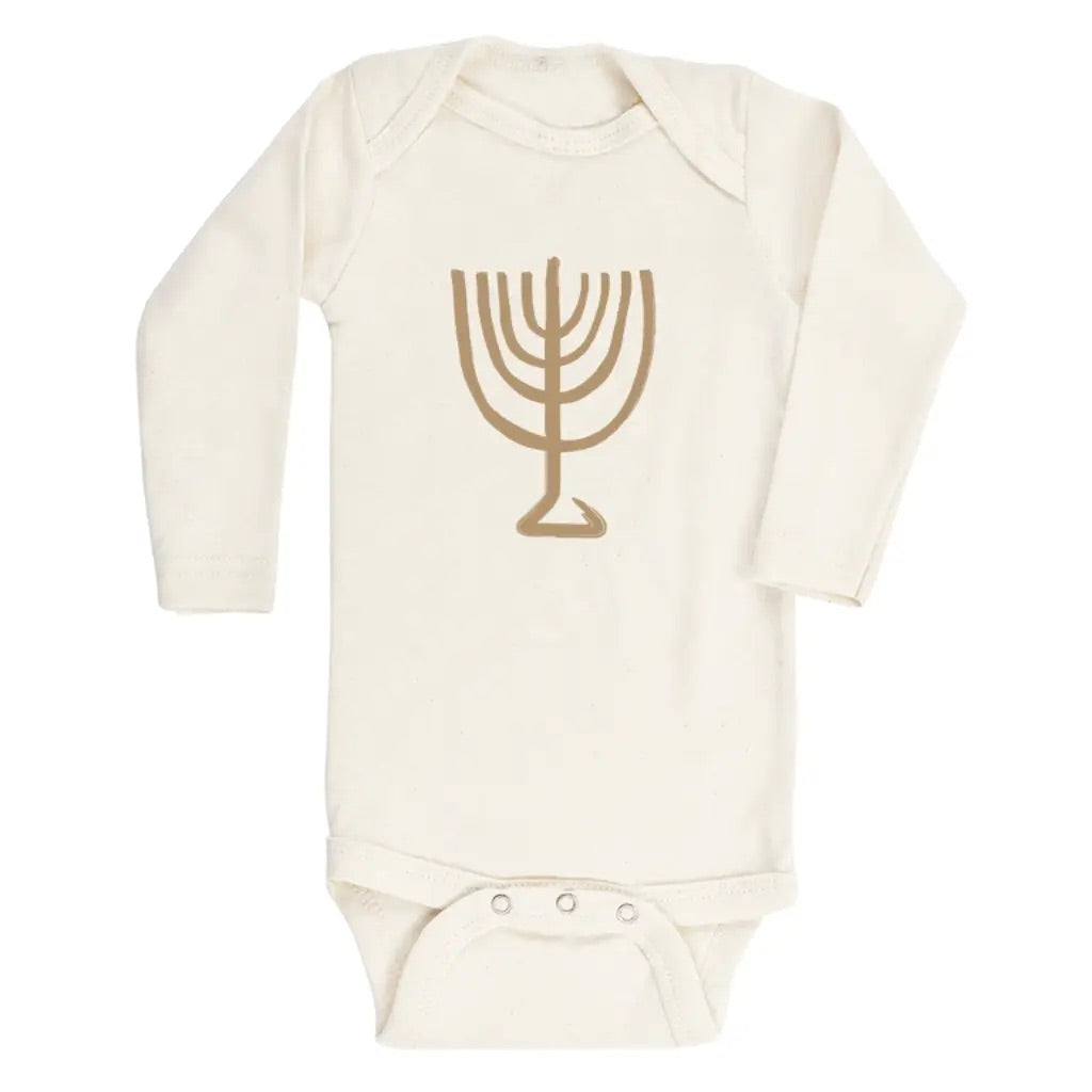 Menorah Long Sleeve Onesie