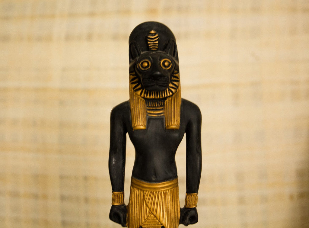 "Sekhmet Goddess Handmade Egyptian Statue| ""The Powerful One"" Ancient Egyptian Sekhmet Statue