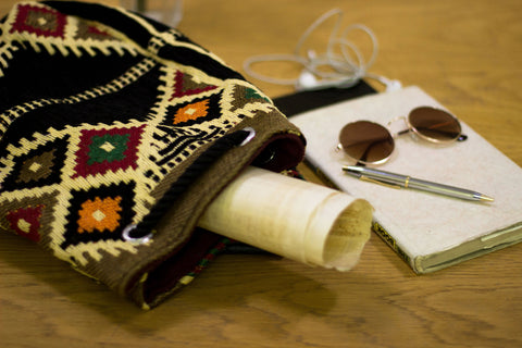 Boho Bedouin Embroidered Handmade Siwa Backpack | Egyptian Bag | Tribal Bedouin Bag | Embroidery Bag | Bedouin Wool Bag | Siwa Backpack