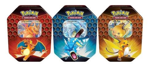 Pre Order: Pokemon TCG Hidden Fates Tin 3 Tin Bundle Charizard, Gyarados & Raichu - Release: Late Nov 2020