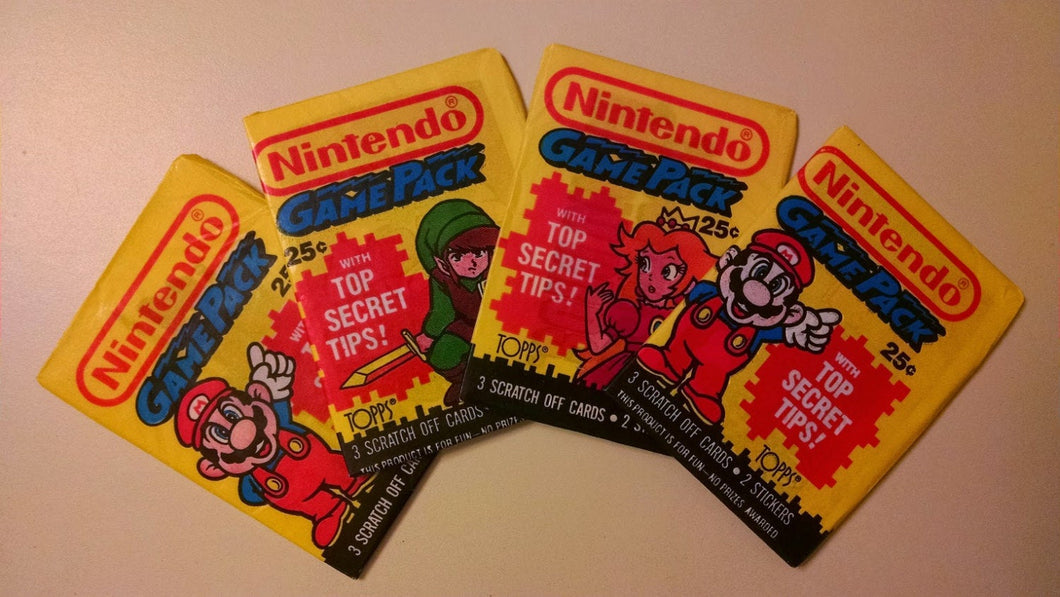 RETRO - 1989 Topps Nintendo Game Pack sng pk