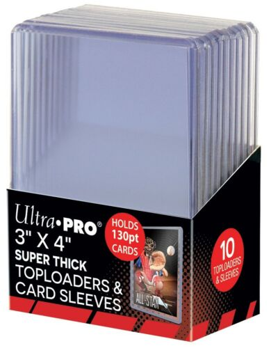 Ultra Pro Clear Top Loaders 130pt with Thick Card Sleeves