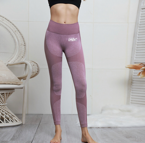 Women-Cotton-Spandex-Leggings 5-COLORS-BLACK,ORANGE,GREY,PURPLE-GREEN